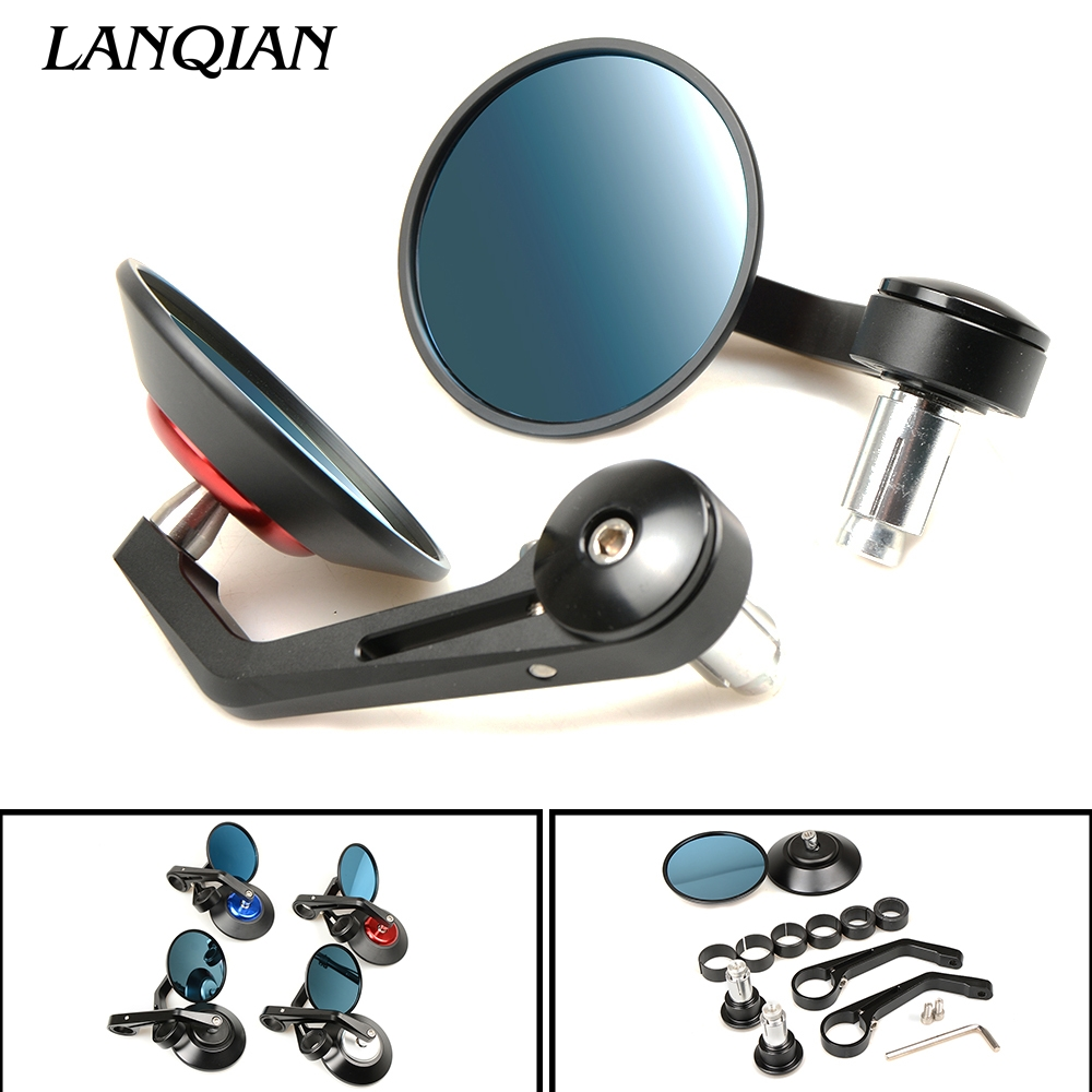 7/8 Universal Motorcycle Mirror View Side Rear Mirror For Yamaha YBR 125 YZF R1 R3 R6 R125 R25 TTR RSZ CBR600 YZF600 MT 03 25 universal modified motorcycle exhaust pipe muffler scooters for yamaha ybr ttr wr 125 yzf600 mt 09 yzf r125 r3 r6 r1 mt07 xmax