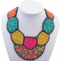 Bib Choker Bohemia Beads Statement Necklace Women Multicolor Collar Necklaces & Pendants Summer Style Jewelry For Gift Party