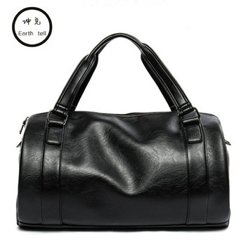 New Arrival PU Leather Drums Handbags For Men Large-Capacity Portable Shoulder Bag Men's Travel Bags Woman Crossbody Package