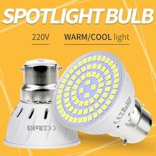 GU10 Spotlight LED B22 Bulb MR16 220V Lamp E27 48 60 80leds Ampoule GU5.3 Spot Light E14 Corn 2835 SMD Bombillas