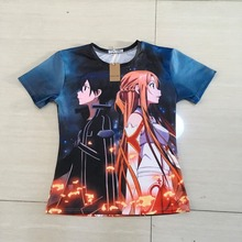PLstar Cosmos summer Anime Sword Art Online t-shirts Women Men harajuku Hipster 3d t shirt Cartoon SAO tshirts casual tees tops