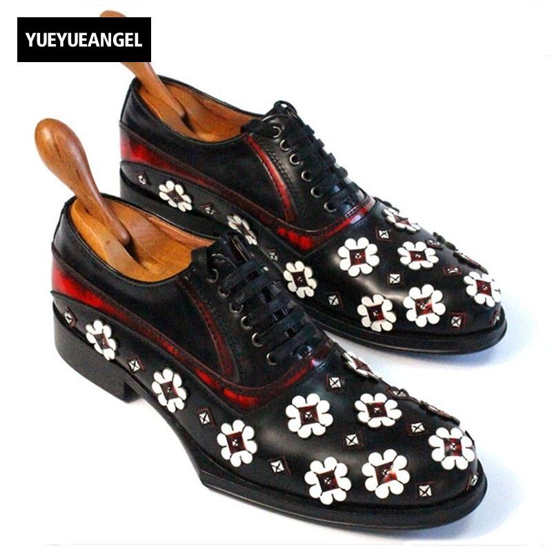 все цены на New Men Dress Shoes Genuine Leather Black Thick Platform Social Male Shoe Luxury Wing Tip Wedding Man Shoe Plus Size US 11.5 онлайн