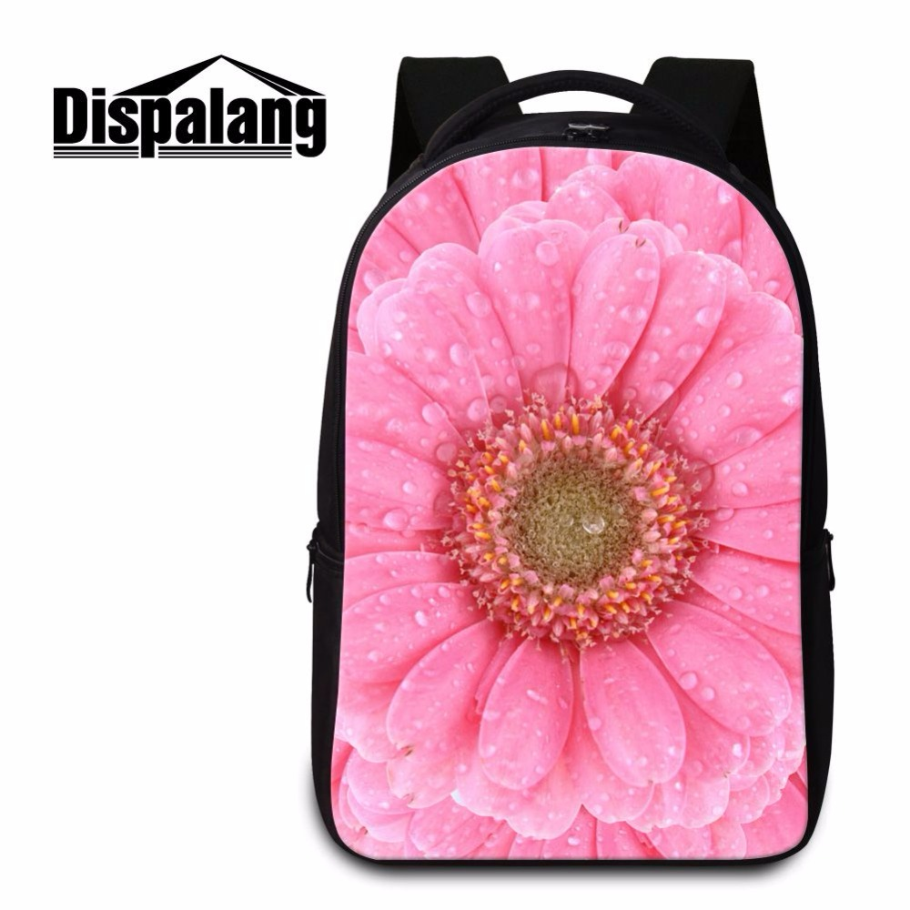 Dispalang large capacity women backpacks for teenager girl floral pattern laptop backpack college student bookbag youth