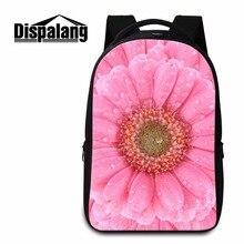 Dispalang большой емкости женщины рюкзаки для подростка девушки цветочный узор ноутбук рюкзак студент bookbag молодежный рюкзак