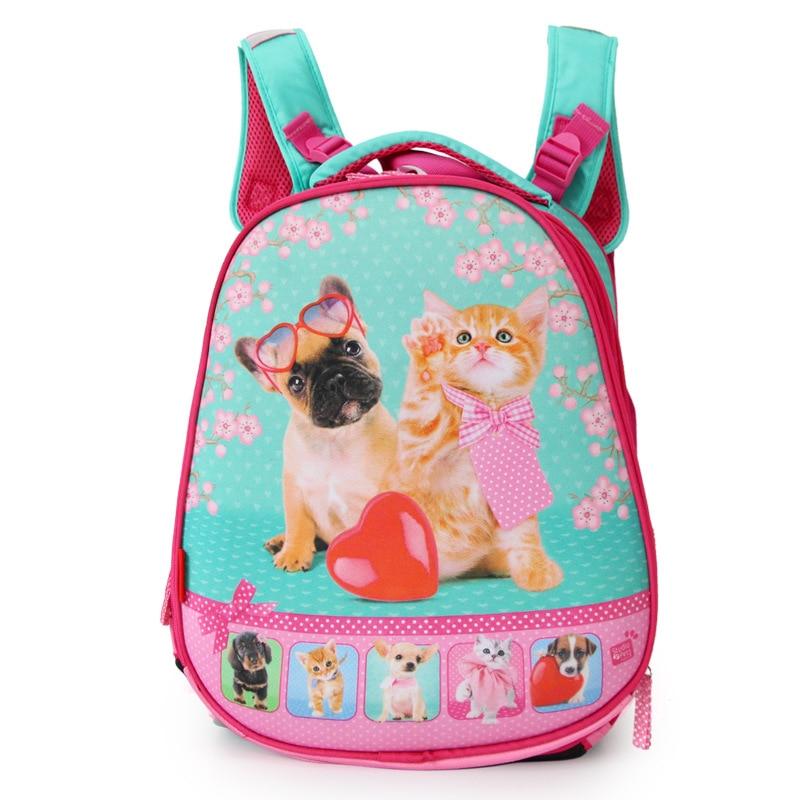 Начальная школа рюкзак для Обувь для девочек животных Сова Товары для кошек и Товары для собак ортопедические Водонепроницаемый школы Сумк...