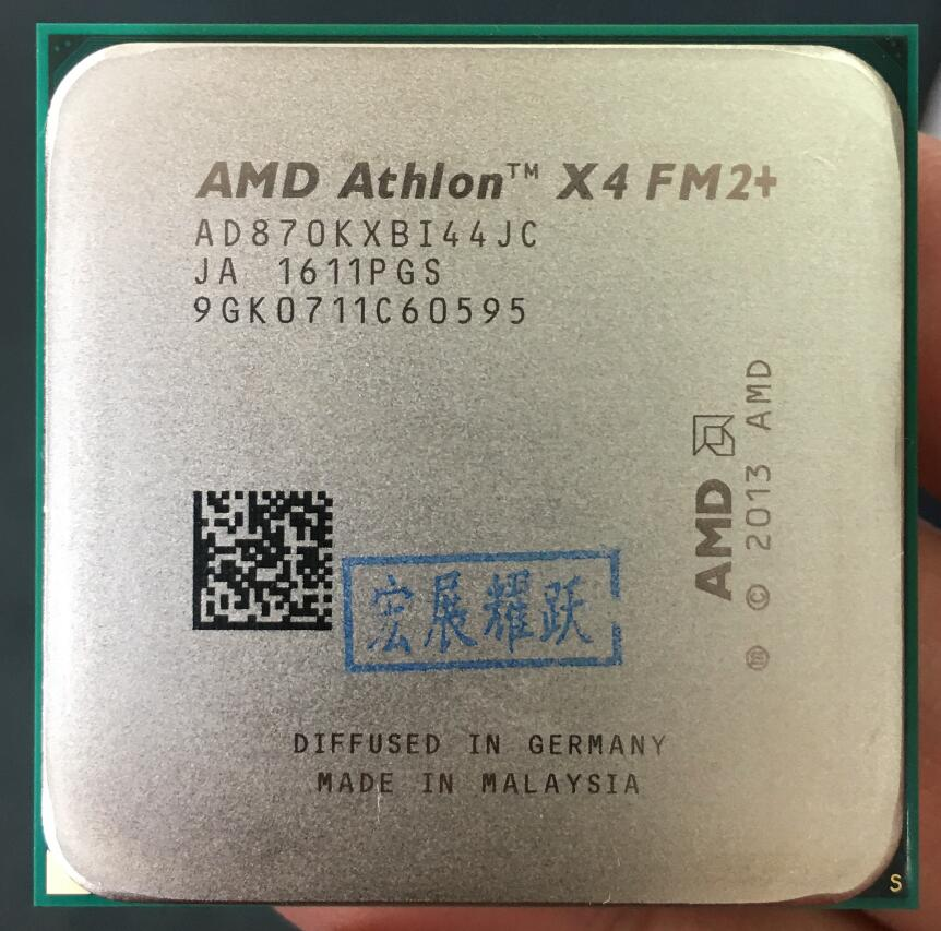 AMD Athlon X4 870K  X870K FM2+ Quad-Core CPU  100% working properly Desktop Processor