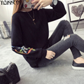 Women Sweater 2016 Winter New Fashion Knitted Pullovers High Quality Solid Sweaters Embroidery Pull Femme Sweter Mujer SZQ087