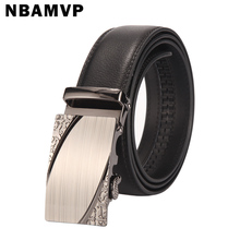 2017 men's fashion Genuine Leather belts for men High quality metal automatic buckle male Jeans belt free shipping YS066