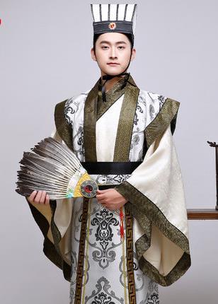 166714ce Новый китайский древняя одежда костюм кино и телевидение производительность  носить Троецарствие период министр Hanfu мужской