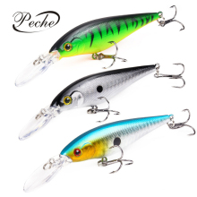 Купить с кэшбэком Peche Minnow Fishing Lures Wobblers jig Crankbait for Carp Fishing Baits Plopper Pesca Isca Artificial Topwater Lures