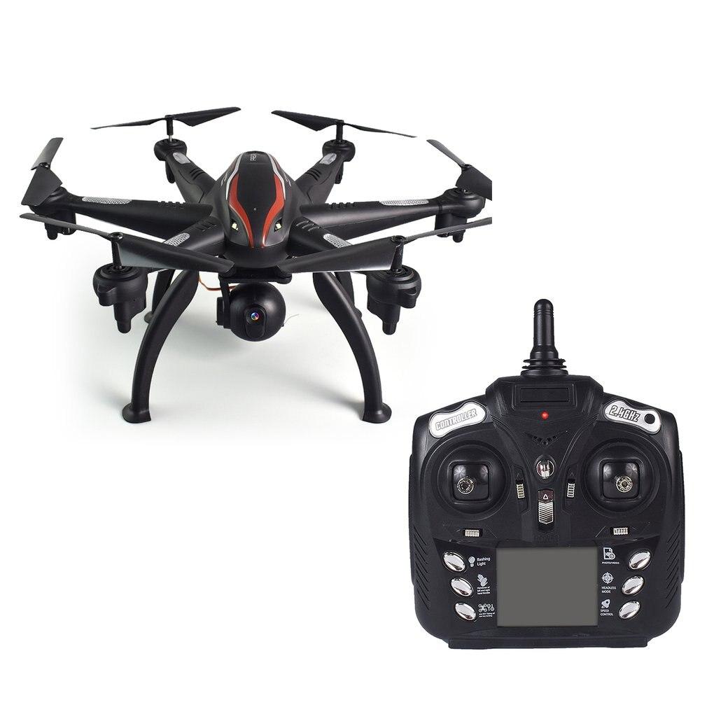 Wi-fi FPV Dupla GPS Zangão 4CH 6-Eixo 1080 P Wide Angle 5G RC Drone Quadcopter Aeronave Avião controle Remoto Da Câmera 180'Adjustable