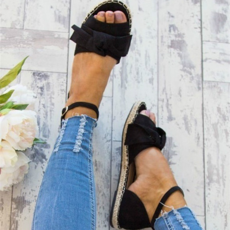 2018 Summer Women Ankle Strap Open Toe Weave Flat Sandals Casual Sweet Flats Beach Wear Shoes Comfortable Buckle Sandal Shoes 2018 summer new fashion bohemian beaded women sandal casual comfortable flat women shoes fast delivery