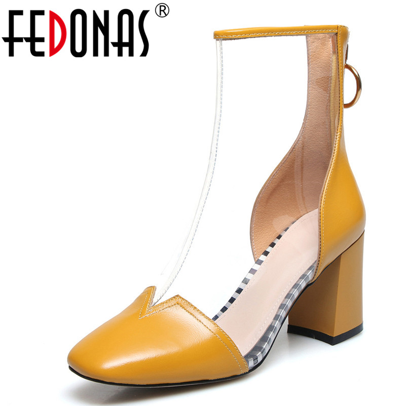 FEDONAS Fashion Women Ankle Boots Genuine Leather High Heels Shoes Large Size Autumn Winter Warm Basic Boots Brand Shoes Woman women boots plus size 35 43 genuine leather autumn winter ankle boots black wine red shoes woman brand fashion motorcycle boot