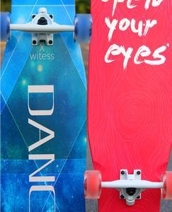 Image 5 - 4 Wheels Maple Complete Longboard Skateboard Street Dancing Long Board Skate Board Adult Youth Double Rocker Board