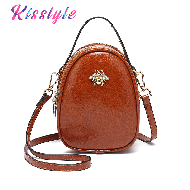 Kisstyle Fashion Small Shoulder Bags High Quality PU Leather Shell Handbag Fresh Mini Cross Body for Women Evening Clutch Purse