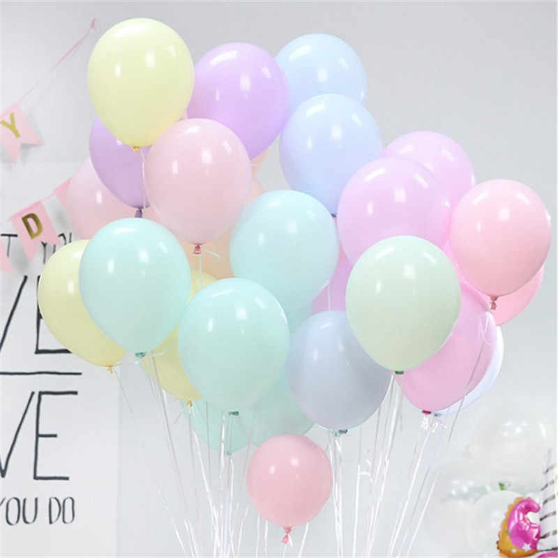5pcs 12inch 2.2g Macaron Birthday Decorations Silver Grey Latex Balloons Rose Gold Decorations Party Globos Birthday Boy Ballons