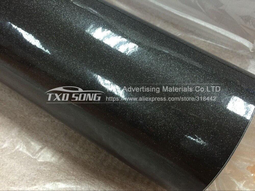 Новые темно-серые высокие блестящий бриллиант пленка виниловая оберточная глянцевая блестящая наклейка без воздушных пузырей Размеры: 12/30/50/60x100 см выбор