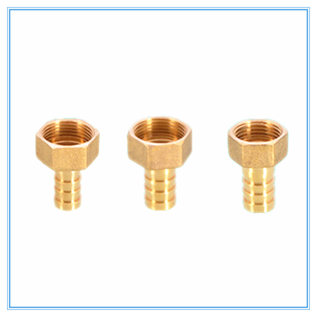 Pipe Fitting ID 8mm 10mm 12mm 14mm 16mm 19mm Hose Barb Tail 3/4 BSP Female Thread Connector Joint Copper Coupler Adapter