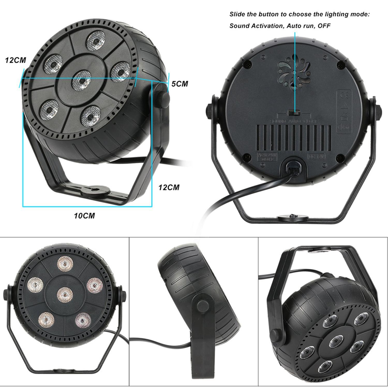 GTBL Mini 13W Dj Laser Disco Ball Stage Light 6 Led Rgb Effect Portable Stage Par Light Auto Sound Activation Indoor Disco Lam