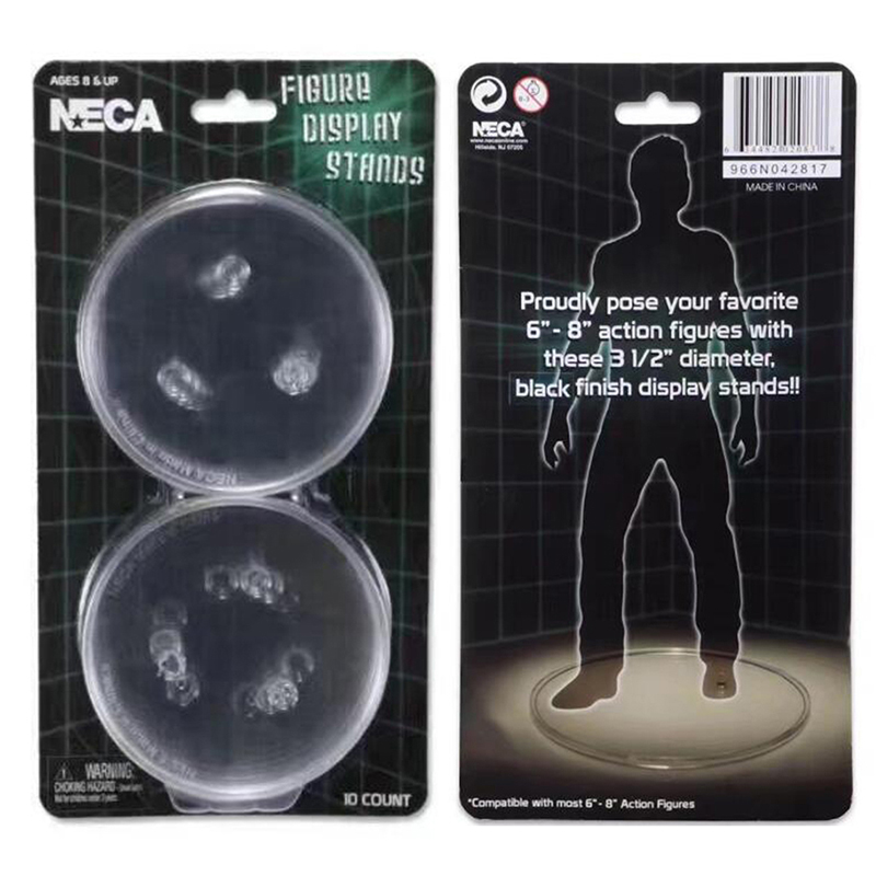 NECA Action Figure Display Stands Display Stand Clear