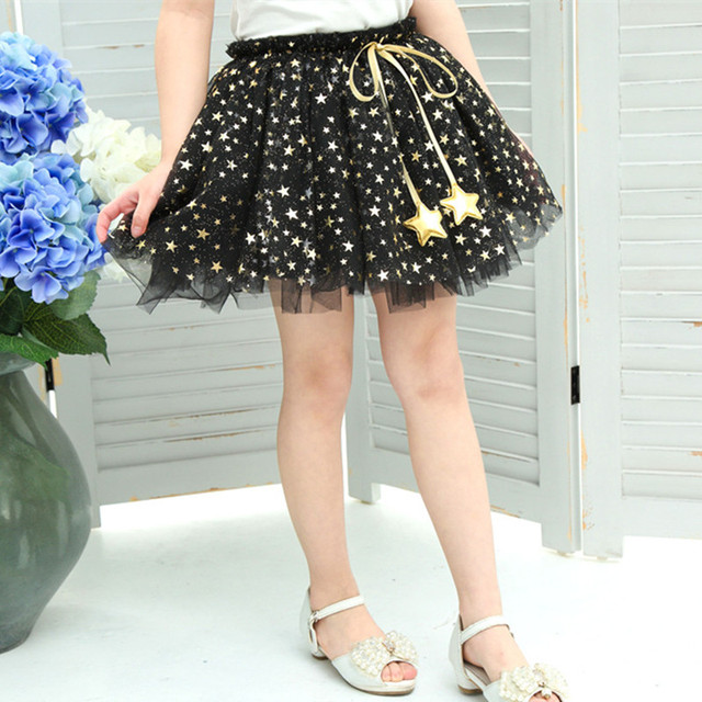 2016 summer Girls gauze skirts  children skirts kids miniskirt beautiful princess star tutu skirts ball gown 4Y-8Tyears old 26