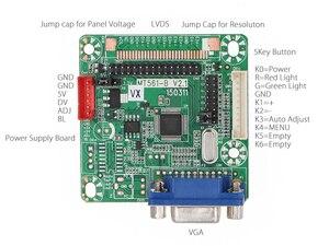 Image 2 - 무료 프로그램 Verison MT516 B 일반 LVDS LCD 드라이버 보드 VGA 12 42 인치 LCD 모니터 패널 용 점프 캡 DC 5V 3.3V/5V