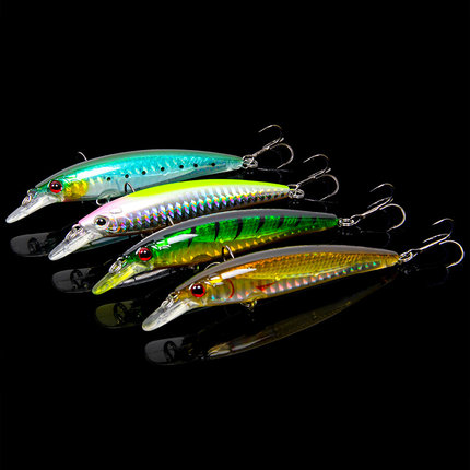 Trulinoya DW11  Fishing Hard Lure  95mm/9g Diving Depth 1m Laser Minnow Lure Bionic Fishing Bait t with BKK Treble Hooks wldslure 1pc 54g minnow sea fishing crankbait bass hard bait tuna lures wobbler trolling lure treble hook
