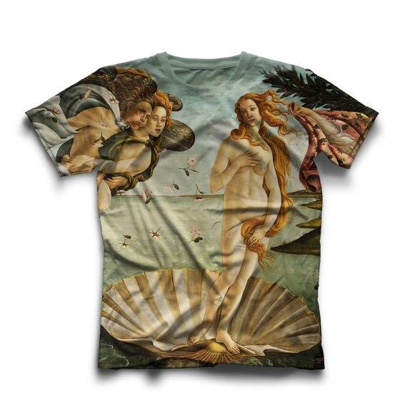 The Birth Of Venus Unisex T Shirt Sandro Botticelli Painting Printed T Shirt Casual Girls Top Tees