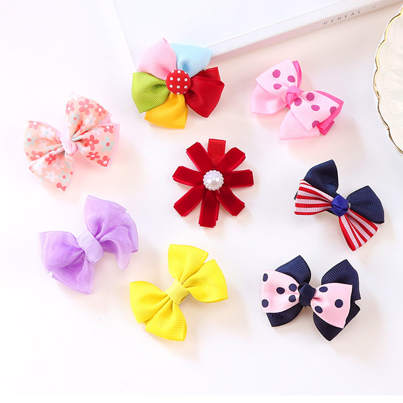 28 Styles New Cute Little Girls Bow Flower Ribbon Hair Clips Kids Hair Ornament Princess Headwear Gift Hairpins Hair Accessories 12pcs lot 4 inch diy grosgrain ribbon bow with clip kids hairpins children hair accessories 12 colors hairpins factory wholesale