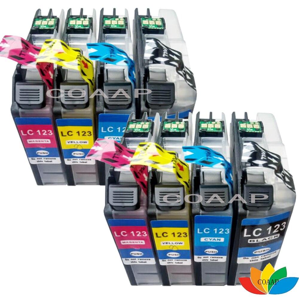 8 шт., картриджи для струйных принтеров, совместимые с LC121, LC123, LC125, LC127
