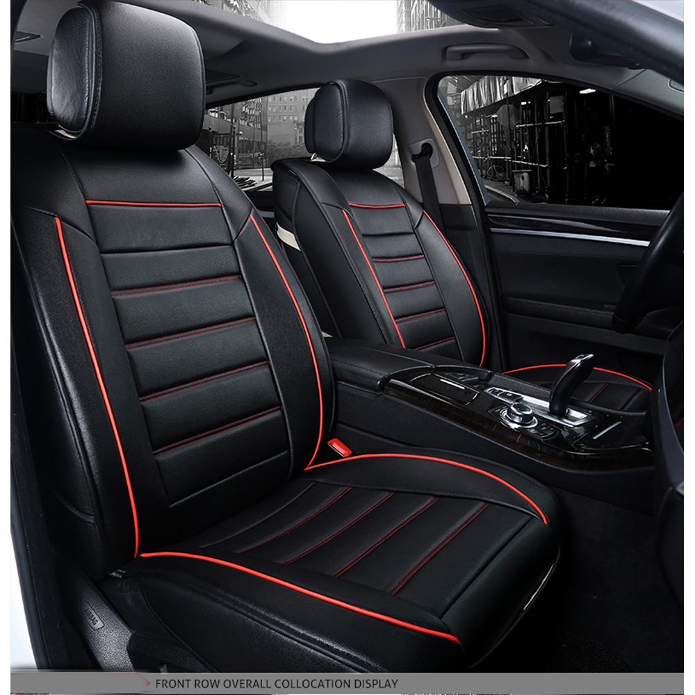 Universal Luxury Car Seat Covers PU Leather Washable Thicken Seat Cushion Covers Set Car Accessories