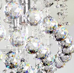 Image 3 - 40 шт./лот 50 мм граненый шар из хрустального стекла для подвесной люстры, призма, подвесные детали, бесплатная доставка