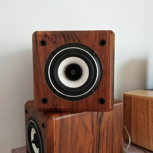 Image 5 - IWISTAO Full Range Speaker Empty Cabinet for 4 inches Passive Speaker Enclosure Wood 15mm High Density MDF Board Volume 4.8L DIY