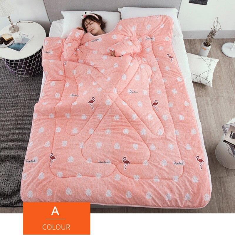 Paresseux couette avec manches couverture Cape Cape Cape sieste couverture dortoir manteau 150x200cm MU