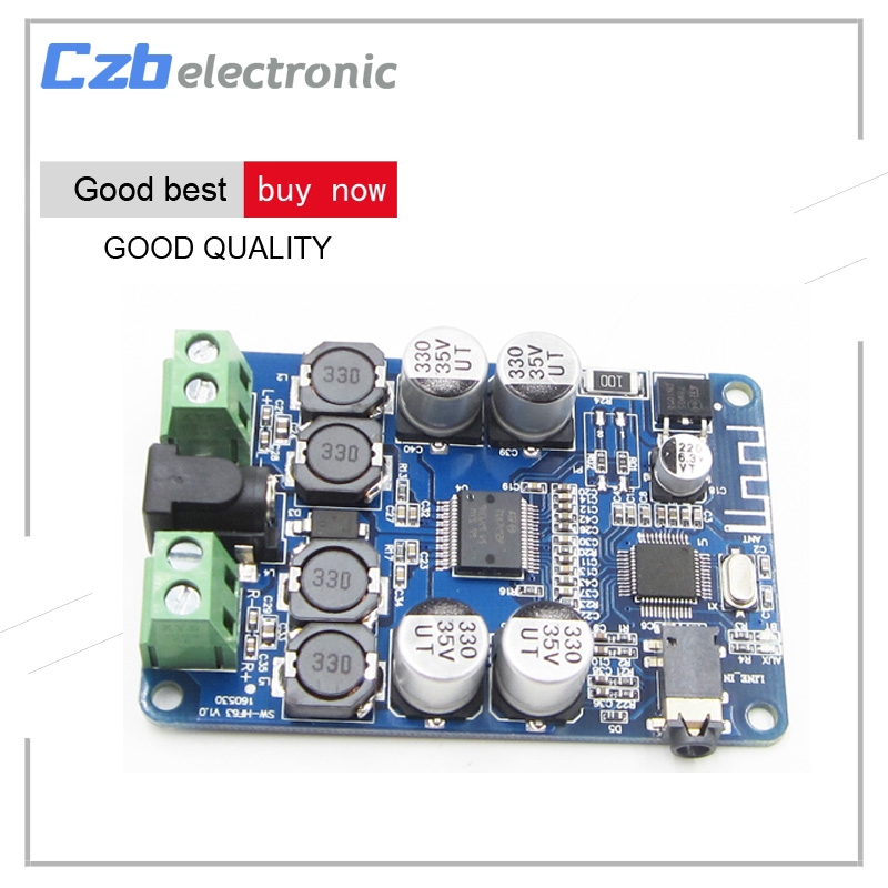 TDA7492P <font><b>Bluetooth</b></font> Audio Receiver Power <font><b>Amplifier</b></font> Board With AUX Interface 25WX25W Mini <font><b>Amplifiers</b></font> Diy Dual channel