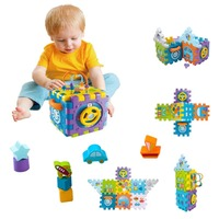 Musical Activity Cubes Baby Toys Blocks Games 9 in 1 Baby Multi Functions Cubes with Music & Light Shape Sorter Activity Toys