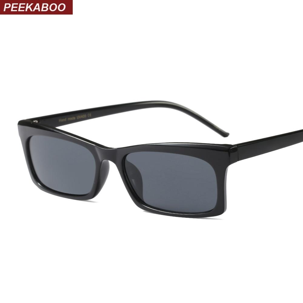 Peekaboo black rectangle small frame sunglasses women fashion red khaki leopard black square sun glasses for women uv400