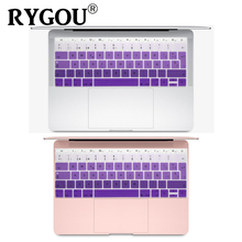 Silicone Keyboard Cover for Macbook 12 inch A1534 and New MacBook Pro 13 inch A1708 A1988, Spanish & English European ISO Layout for macbook 12 a1534 switzerland swiss keyboard w topcase 2015 2016 2017 years gold gray grey silver rose gold color