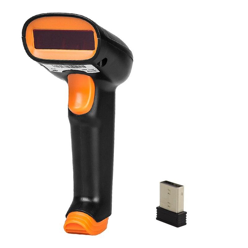 Sans fil NETUM S2 2.4G 1D Barcode Scanner jusqu'à 50 m Laser lumière USB Filaire Sans Fil 1D Scanner Reader Pour Pos et Invertory