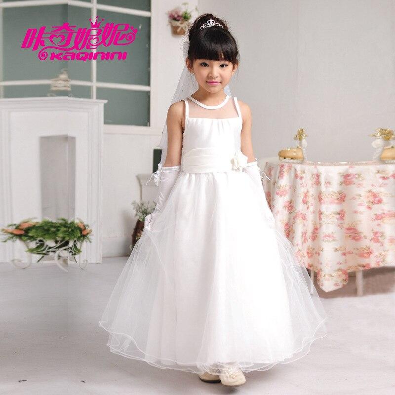 long designer flower girl dress Kids 2015 summer Korean wedding ...
