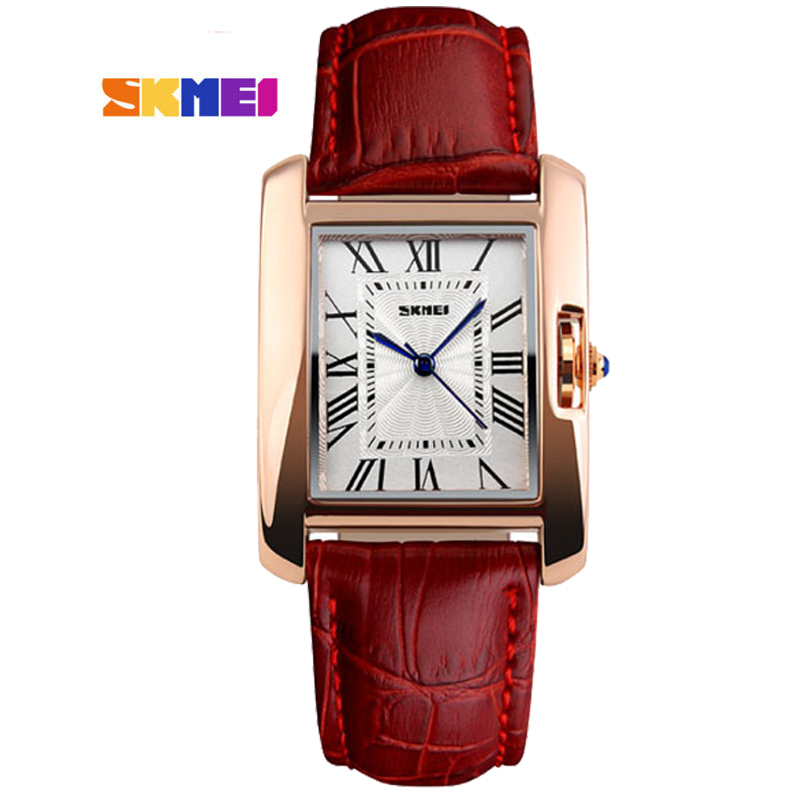 Watch Women SKMEI brand luxury Fashion Casual quartz watches leather sport Lady relojes mujer women wristwatches Dress Girl 1085 relojes mujer 2016 quartz watch women watches relogio feminino women s leather dress fashion brand skmei waterproof wristwatches