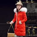 Womens Down Jackets 2016 winter jacket Women 100% Real Raccoon Fur Collar Hooded Thick Long Jacket Coat Female Winter Down Parka