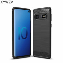 все цены на For Samsung Galaxy S10 Case Luxury Armor Rubber Soft Silicone Phone Case For Samsung Galaxy S10 Back Cover For Samsung S10 Shell
