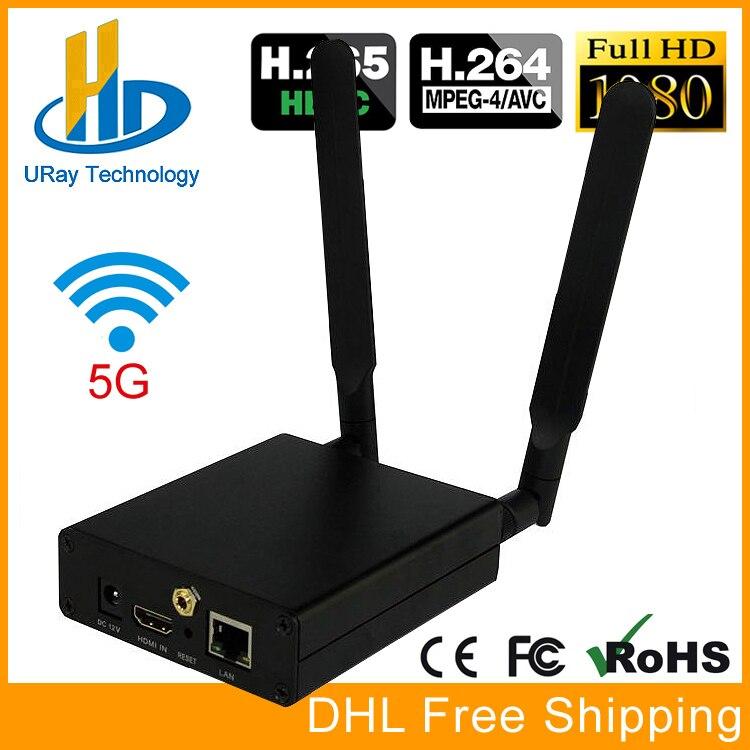 URay HEVC H.265 H.264 HDMI Video Encoder HDMI Transmitter Live Broadcast Encoder H264 Encoder RTMP RTSP UDP Server niorfnio portable 0 6w fm transmitter mp3 broadcast radio transmitter for car meeting tour guide y4409b