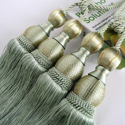1 пара роскошный высококлассный Магнитный кристаллик для занавесок Европейский двойной шар с перекрестной шнуровкой и украшениями круглой формы аксессуары-подвески связующая лента задняя N119 - Цвет: L
