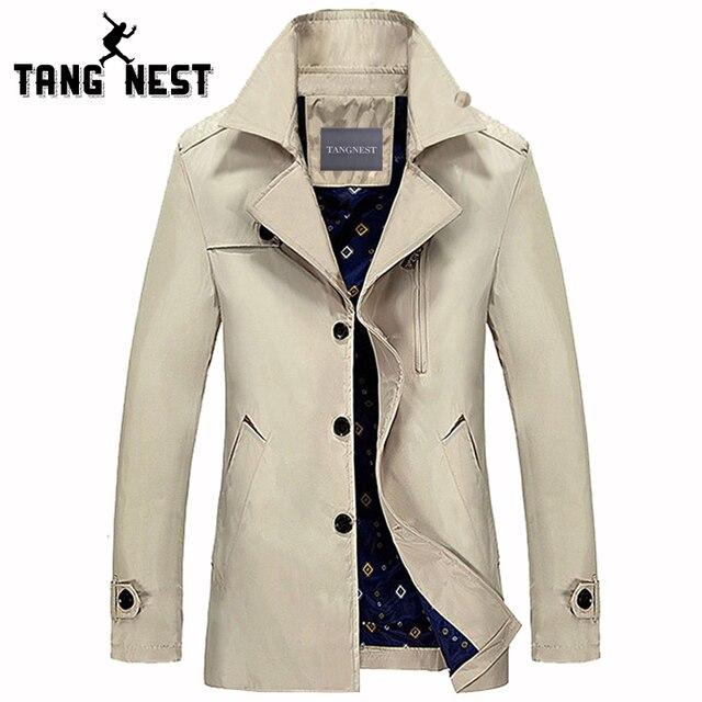Tangnest primavera outono homens jaqueta de fitness ocasional 2017 listagem do novo casaco de trincheira dos homens do estilo do negócio casaco mais o tamanho asiático mwf242