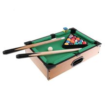 TOP!-Mini Tabletop Pool Table Desktop Billiards Sets Children'S Play Sports Balls Sports Toys Xmas Gift Family Fun Entertainme wooden billiards mini desktop billiards fun billiard game billiards