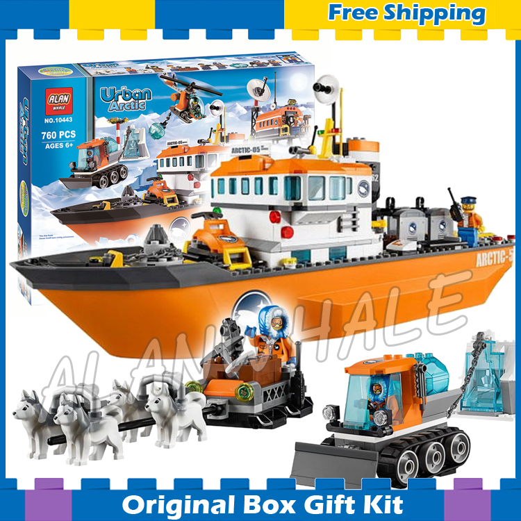 760pcs City Arctic Ice Breaker Ship DIY New 10443 Building Blocks Figures Model Children Toys Bricks Kits Compatible with Lego