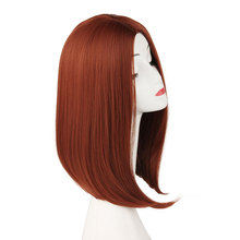 Pageup Rode Pruik Short Synthetic Bob Wig For Women Heat Resistant Fiber Pixie Cut Orange Wig Ladies Full Head Cosplay Red Wigs недорого