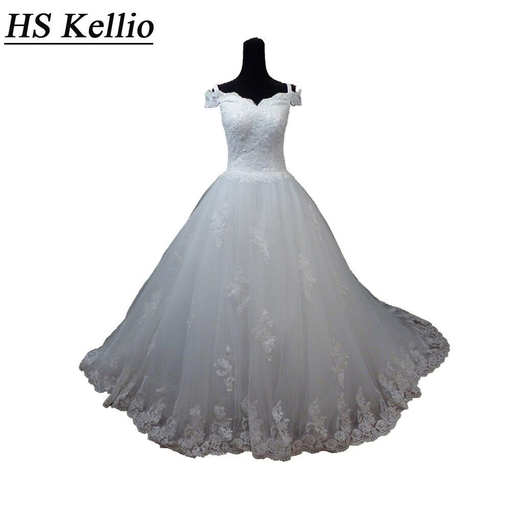 30% remise hors Long Train robe de mariée hors épaule dentelle bord garni Royal robe de mariée